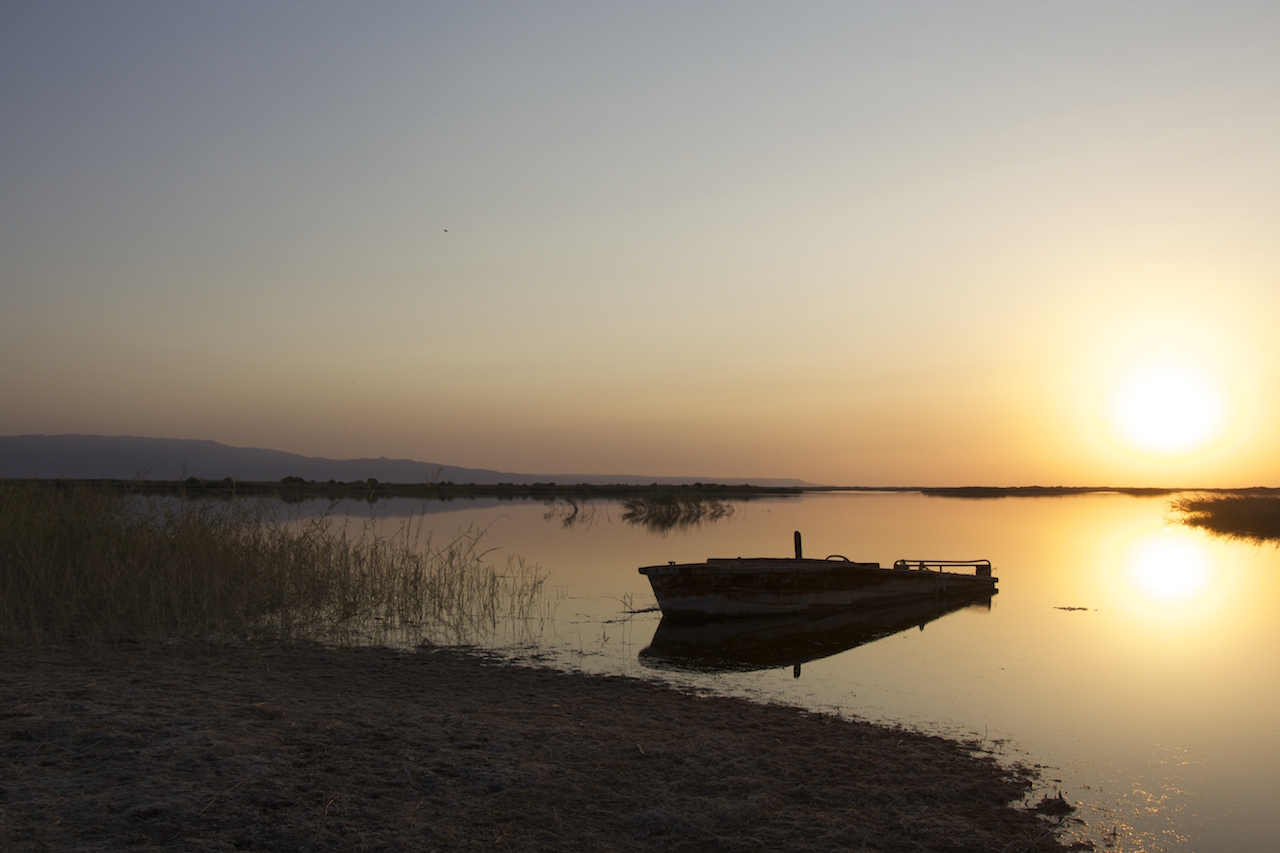 Sunset over Lake Aydar